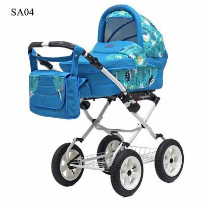 Коляска для новорожденного Teddy BartPlast Angelina Lite PKL 2016 (SA04/голубой)