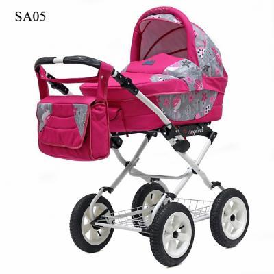 Коляска для новорожденного Teddy BartPlast Angelina Lite PKL 2016 (SA05/розовый) коляска 2 в 1 teddy bartplast angelina pkl 2016 pl01 синий