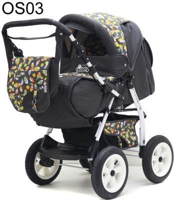 Прогулочная коляска Teddy BartPlast Victoria 2016 BKL (OS03/графит-оранжевый)