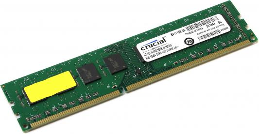 Оперативная память 8Gb (1x8Gb) PC3-12800 1600MHz DDR3L DIMM CL11 Crucial CT102464BD160B стационарный