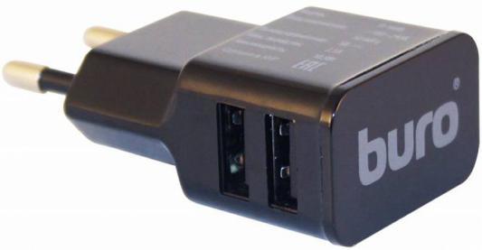 Сетевое зарядное устройство Buro TJ-160B 2х USB 1,1А черный