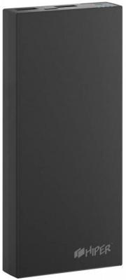 Портативное зарядное устройство HIPER RP15000 15000мАч черный внешний аккумулятор hiper rp15000 15000мaч черный [rp15000 black]