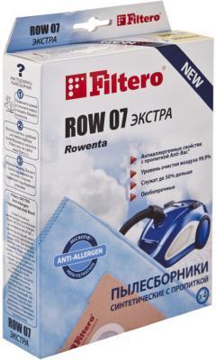 Пылесборник Filtero ROW 07 Экстра пятислойные 4шт filtero row 07 экстра мешок пылесборник для rowenta 4 шт