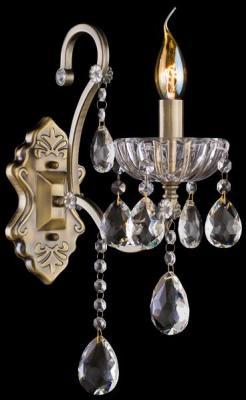 Купить Бра Eurosvet 3108/1 античная бронза/прозрачный хрусталь Strotskis