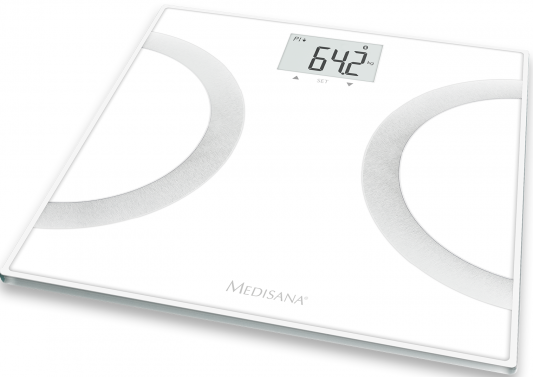 Весы напольные Medisana BS 445 Connect белый чёрный голубой