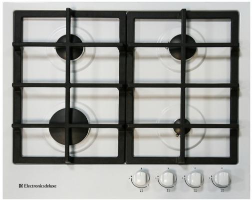Варочная панель газовая Electronicsdeluxe TG4 750231F-024 белый варочная поверхность electronicsdeluxe tg4 750231f 040 black