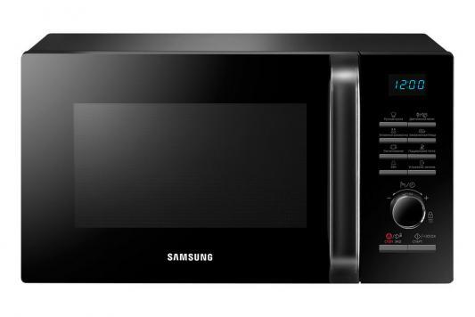 СВЧ Samsung MS23H3115QK 800 Вт чёрный набор посуды babybjorn 2 тарелки 2 ложки 2 вилки в упаковке розовый лиловый