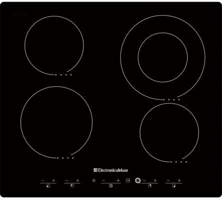 Варочная панель электрическая Electronicsdeluxe 595204.01 ЭВС черный варочная панель индукционная electronicsdeluxe 605304 01эви