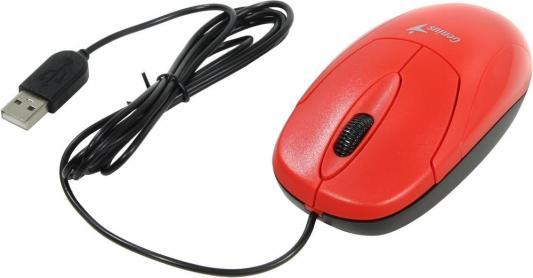 Мышь проводная Genius XScroll V3 красный USB