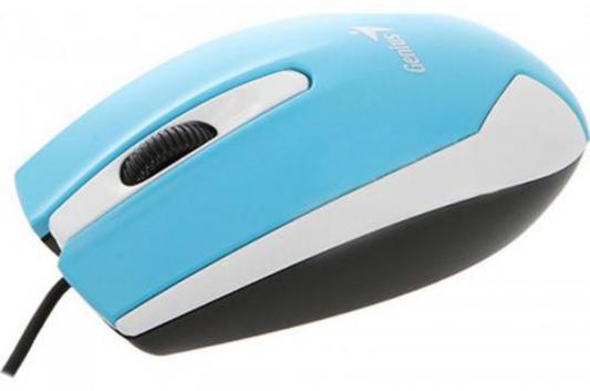 Мышь проводная Genius DX-100X белый голубой USB doxa dx 357 35 057d 02 doxa