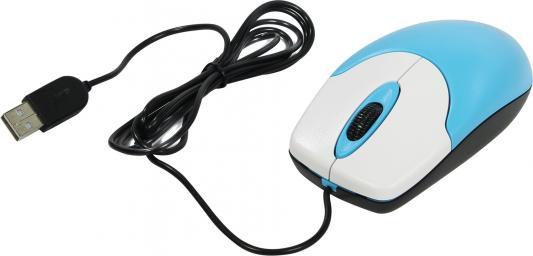 Мышь проводная Genius Netscroll 120 V2 голубой USB мышь проводная genius dx 100x голубой белый usb