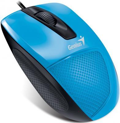 лучшая цена Мышь проводная Genius DX-150X голубой чёрный USB