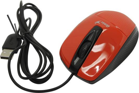 Мышь проводная Genius DX-150X красный USB мыши genius проводная оптическая мышь dx 130