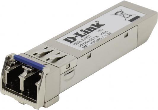 Трансивер сетевой D-Link DEM-310GT/G1A  1-port mini-GBIC LX Single-mode Fiber Transceiver