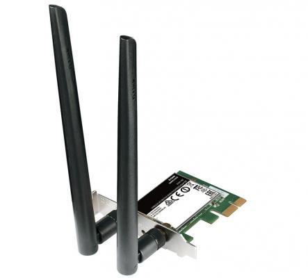Беспроводной PCI-E адаптер D-Link DWA-582/A1A  802.11n 300Mbps 2.4ГГц