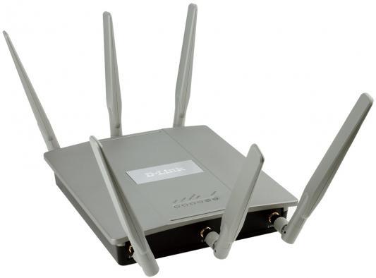 Маршрутизатор D-Link DAP-2695 802.11acbgn 1750Mbps 5 ГГц 2.4 ГГц 2xLAN RJ-45 PoE серый