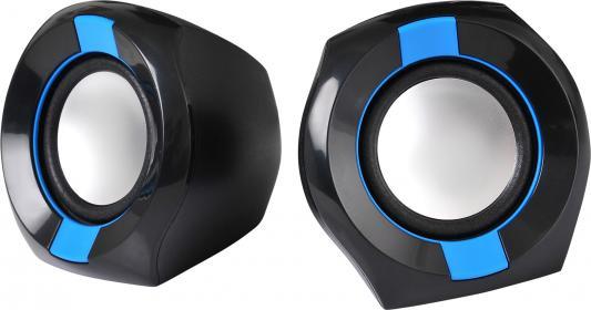 Колонки Oklick OK-203 2x3Вт черный/синий