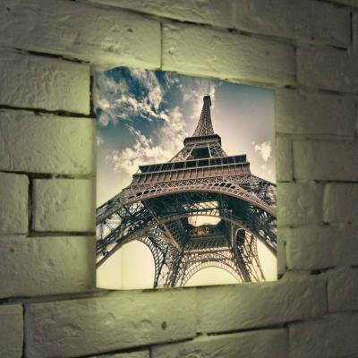 Лайтбокс Эйфелева башня 25x25-023 пазлы magic pazle объемный 3d пазл эйфелева башня 78x38x35 см