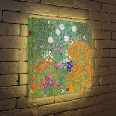 Лайтбокс Густав Климт Цветы 45x45-038
