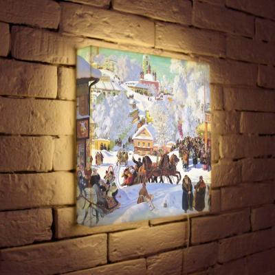 Лайтбокс Кустодиев Масленница 35x35-126 цена
