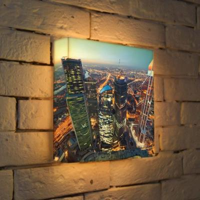 Лайтбокс Москва-Сити 2 25x25-084 лайтбокс москва сити 2 45x45 084