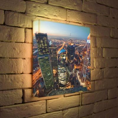 Лайтбокс Москва-Сити 2 35x35-084 лайтбокс москва сити 2 45x45 084