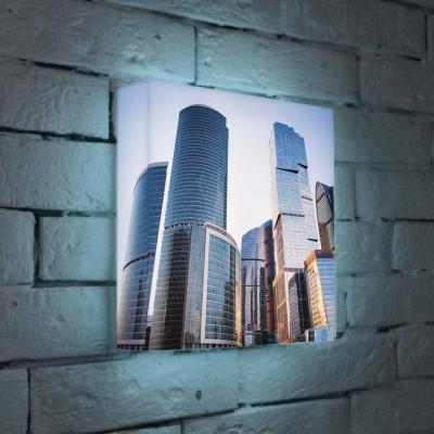 Лайтбокс Москва-Сити 25x25-008 лайтбокс москва сити 45x45 008