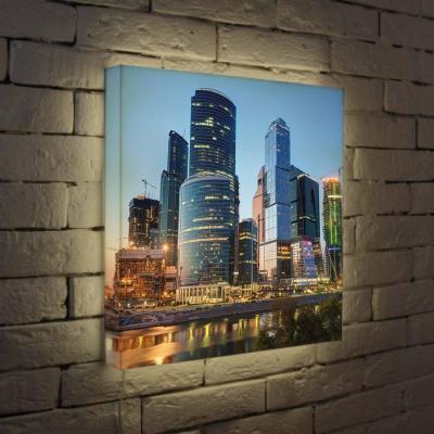 Лайтбокс Москва-Сити 3 45x45-100 лайтбокс москва сити 2 45x45 084