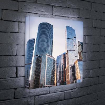 Лайтбокс Москва-Сити 45x45-008 лайтбокс москва сити 2 45x45 084