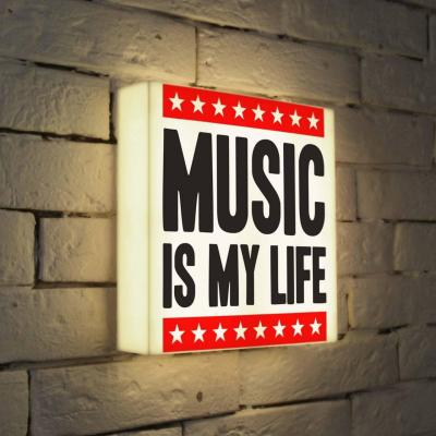 Лайтбокс Music is my life 25x25-072 fotoniobox лайтбокс music is my life 45x45 072