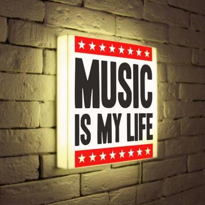Лайтбокс Music is my life 35x35-072 football my life