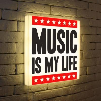 Лайтбокс Music is my life 45x45-072 football my life