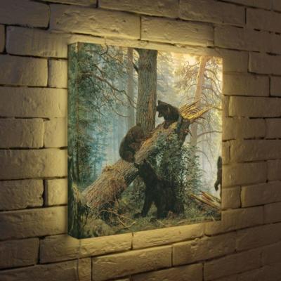 Лайтбокс Шишкин Утро в сосновом лесу 45x45-152 лайтбокс шишкин утро в сосновом лесу 35x35 152