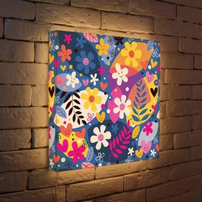 Лайтбокс Цветочки 45x45-010 fotoniobox лайтбокс цветочки 25x25 010