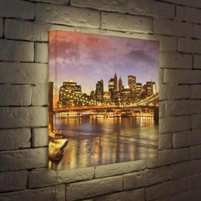 Лайтбокс Вечерний мост 45x45-108 лайтбокс вечерний шанхай 45x45 026