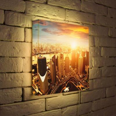 Лайтбокс Вечерний Шанхай 35x35-026 лайтбокс вечерний шанхай 45x45 026