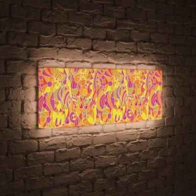 Лайтбокс панорамный Абстракция 60x180-p008