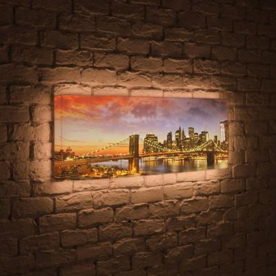 Лайтбокс панорамный Бруклинский мост 35x105-p007 от 123.ru