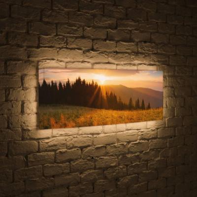 Лайтбокс панорамный Летний лес 45x135-p015