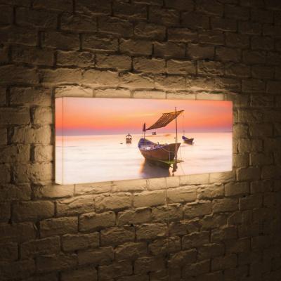 Лайтбокс панорамный Лодка 35x105-p023