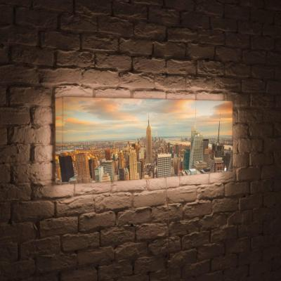 Лайтбокс панорамный Над городом 45x135-p018