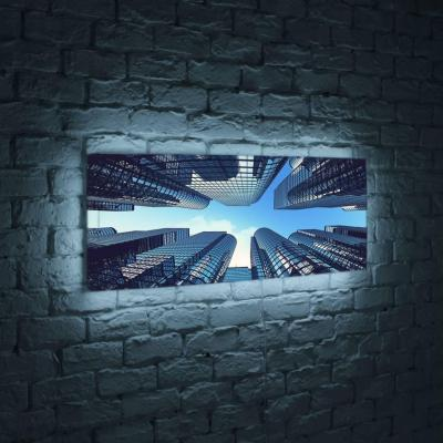 Лайтбокс панорамный Небоскребы 35x105-p006