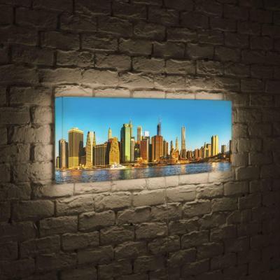 Лайтбокс панорамный NYC 45x135-p004