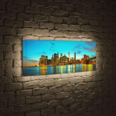 Лайтбокс панорамный Огни большого города 60x180-p005
