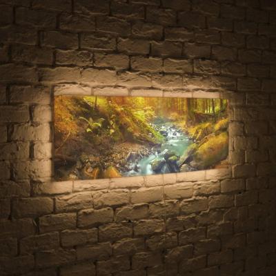 Лайтбокс панорамный Ручей 35x105-p014