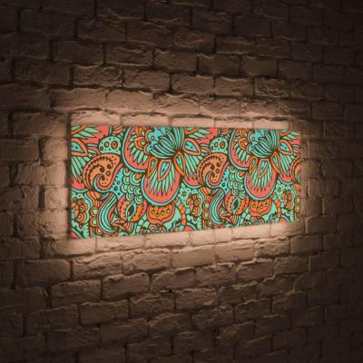 Лайтбокс панорамный Узор 35x105-p011