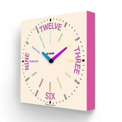 купить Часы настенные FotonioBox BoxPop VIII PB-508-35 розовый недорого