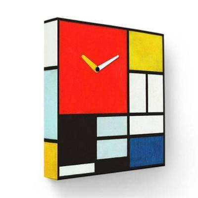 Часы настенные FotonioBox Мондриан PB-035-35 разноцветный