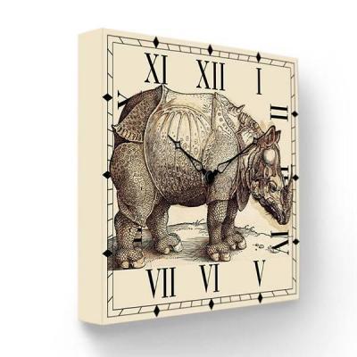 Часы настенные FotonioBox Носорог PB-009-35 бежевый цена и фото