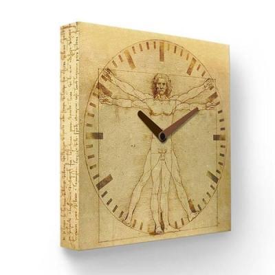 Часы настенные FotonioBox Витрувианский человек PB-016-35 бежевый